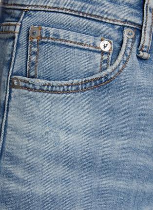 - RAG & BONE/JEAN - 高腰切割水洗烟管牛仔裤