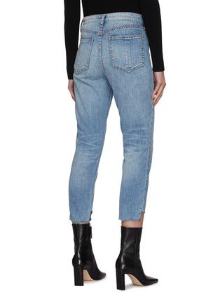 背面 - 点击放大 - RAG & BONE/JEAN - 高腰切割水洗烟管牛仔裤