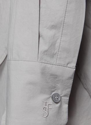 - THE FRANKIE SHOP - LUI褶间衣袖有机纯棉衬衫