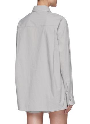 背面 - 点击放大 - THE FRANKIE SHOP - LUI褶间衣袖有机纯棉衬衫