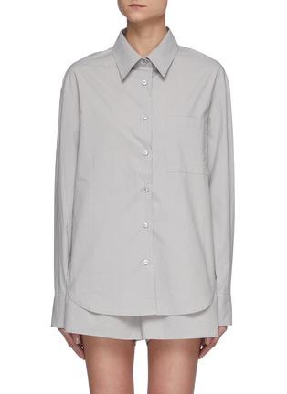 首图 - 点击放大 - THE FRANKIE SHOP - LUI褶间衣袖有机纯棉衬衫