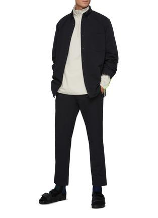 模特儿示范图 - 点击放大 - NANAMICA - ALPHADRY腰带露踝长裤