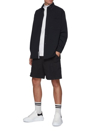 模特儿示范图 - 点击放大 - NANAMICA - ALPHADRY长袖衬衫