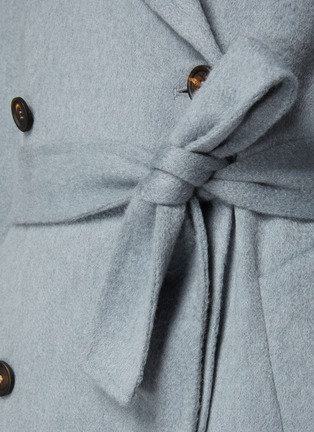 - BRUNELLO CUCINELLI - 可拆式腰带羊绒大衣