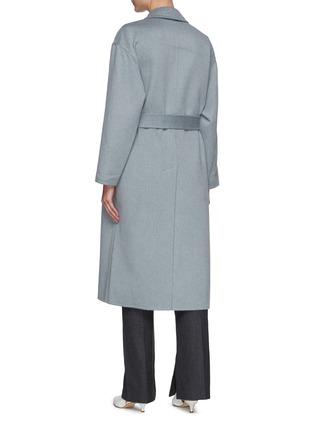 背面 - 点击放大 - BRUNELLO CUCINELLI - 可拆式腰带羊绒大衣