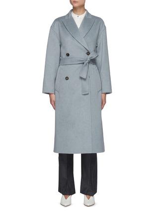 首图 - 点击放大 - BRUNELLO CUCINELLI - 可拆式腰带羊绒大衣