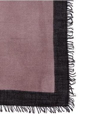 细节 - 点击放大 - FALIERO SARTI - POPPY渐变羊绒混丝围巾