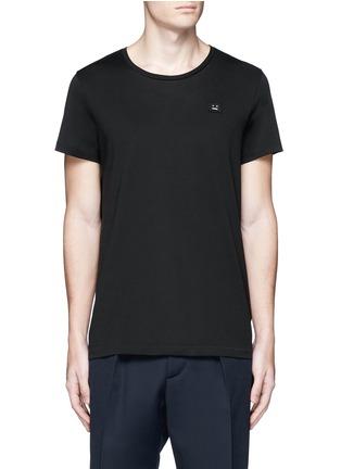 首图 - 点击放大 - ACNE STUDIOS - Standard face表情徽章纯棉T恤
