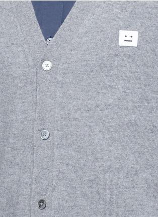 细节 - 点击放大 - ACNE STUDIOS - DASHER表情徽章羊毛针织外套