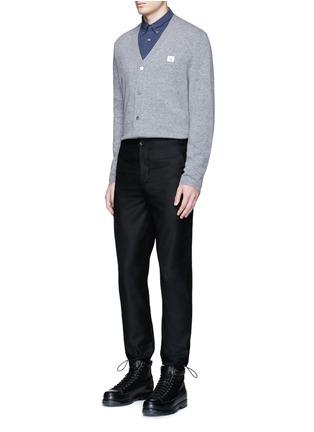 模特儿示范图 - 点击放大 - ACNE STUDIOS - DASHER表情徽章羊毛针织外套