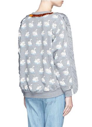 背面 - 点击放大 - STELLA MCCARTNEY - 流苏装饰天鹅图案纯棉卫衣