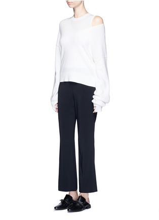 模特示范图 - 点击放大 - HELMUT LANG - 弹性绉绸喇叭裤
