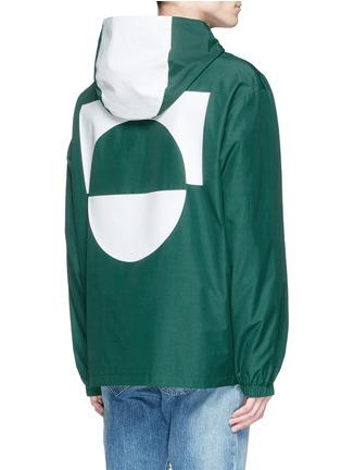 背面 - 点击放大 - MC Q - 胶印装饰混棉连帽外套