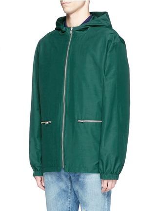 正面 -点击放大 - MCQ ALEXANDER MCQUEEN - 胶印装饰混棉连帽外套