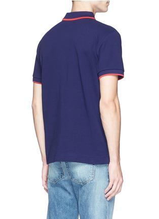 背面 - 点击放大 - MCQ ALEXANDER MCQUEEN - 拼色纯棉polo衫