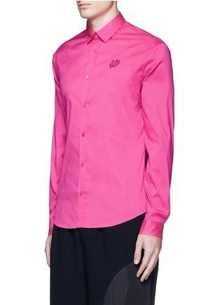 正面 -点击放大 - MCQ ALEXANDER MCQUEEN - 燕子刺绣纯棉衬衫