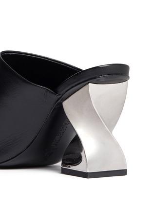 细节 - 点击放大 - OPENING CEREMONY - DINERO螺旋鞋跟镂空搭带凉鞋