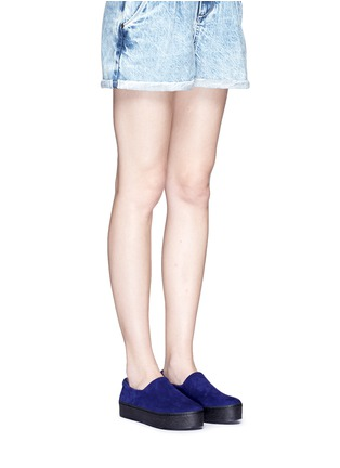 模特儿示范图 - 点击放大 - OPENING CEREMONY - 绒面皮厚底便鞋