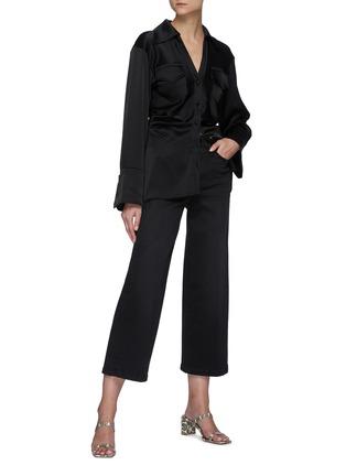 模特儿示范图 - 点击放大 - FRAME DENIM - ALI露踝牛仔裤