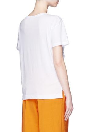 背面 - 点击放大 - DRIES VAN NOTEN - 荷叶边装饰纯棉T恤