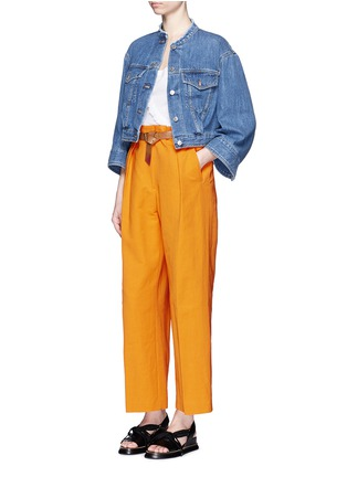 模特示范图 - 点击放大 - DRIES VAN NOTEN - 荷叶边装饰纯棉T恤