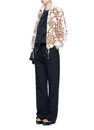 模特示范图 - 点击放大 - DRIES VAN NOTEN - 珠片装饰棒球夹克