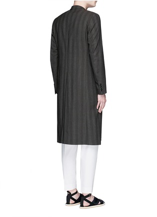 背面 - 点击放大 - DRIES VAN NOTEN - 仿水晶格纹羊毛大衣