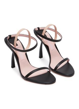 细节 - 点击放大 - PIFERI - FANTASIA装饰袜筒仿皮革高跟凉鞋