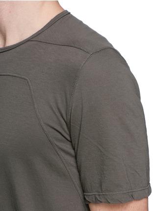 细节 - 点击放大 - Rick Owens DRKSHDW - 缝线装饰纯棉T恤