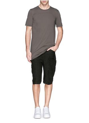 模特儿示范图 - 点击放大 - Rick Owens DRKSHDW - 缝线装饰纯棉T恤