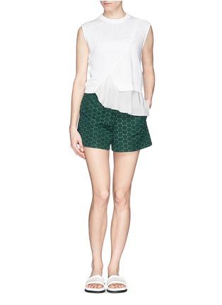 模特示范图 - 点击放大 - MONCLER - 蕾丝短裤