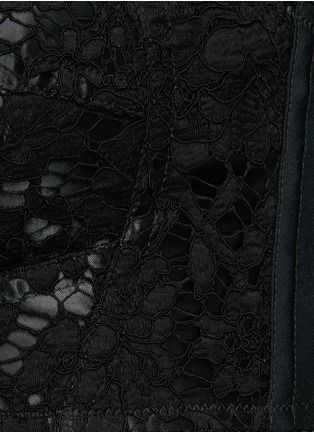 细节 - 点击放大 - DOLCE & GABBANA - 蕾丝文胸式上衣