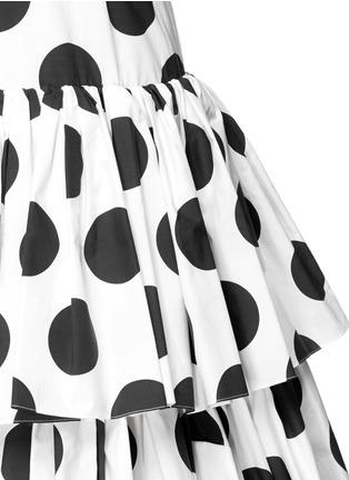 细节 - 点击放大 - DOLCE & GABBANA - 波点层次高腰半身裙