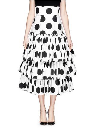 首图 - 点击放大 - DOLCE & GABBANA - 波点层次高腰半身裙