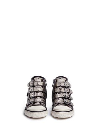 模特示范图 - 点击放大 - 90115 - FANTA幼儿款金属裂纹高筒球鞋