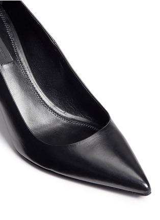 细节 - 点击放大 - ALEXANDER WANG - TRISTA缺口真皮高跟鞋