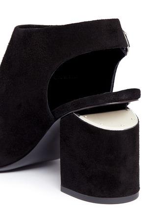 细节 - 点击放大 - alexanderwang - NADIA切口鞋跟绒面皮高跟鞋