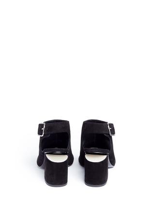 背面 - 点击放大 - alexanderwang - NADIA切口鞋跟绒面皮高跟鞋