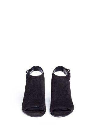 正面 -点击放大 - alexanderwang - NADIA切口鞋跟绒面皮高跟鞋