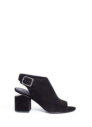首图 - 点击放大 - alexanderwang - NADIA切口鞋跟绒面皮高跟鞋