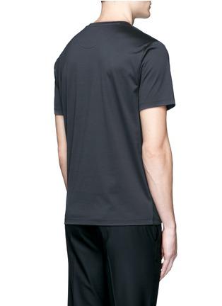 背面 - 点击放大 - WOOYOUNGMI - 线条拼色花卉图案T恤