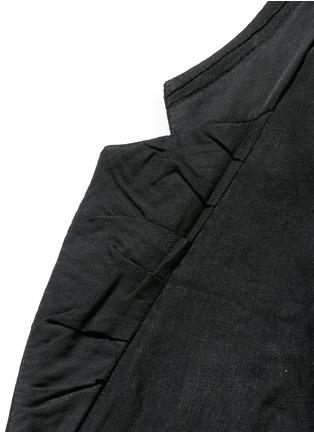 细节 - 点击放大 - HAIDER ACKERMANN - 短款设计亚麻外套
