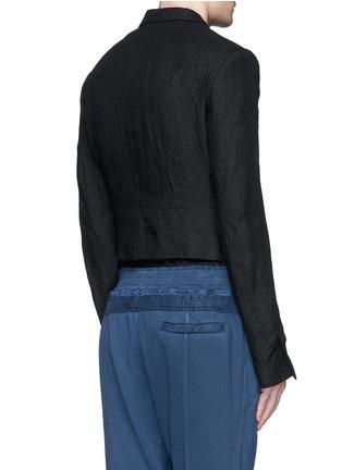背面 - 点击放大 - HAIDER ACKERMANN - 短款设计亚麻外套