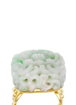 细节 - 点击放大 - SHAOO PARIS - 翡翠雕花18K金戒指