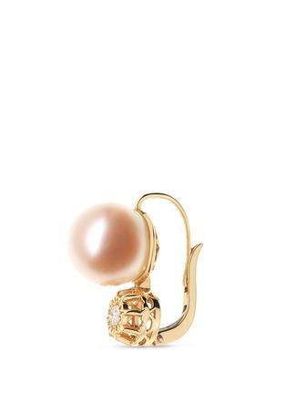 细节 - 点击放大 - SHAOO PARIS - 钻石珍珠18K黄金耳环