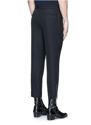 背面 - 点击放大 - MC Q - 拉链条纹装饰羊毛九分裤