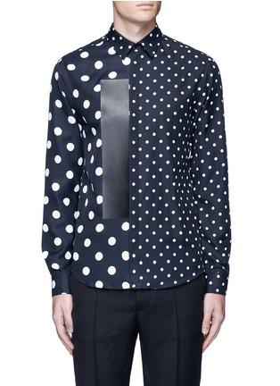 首图 - 点击放大 - MC Q - 大小波点皮革拼贴衬衫