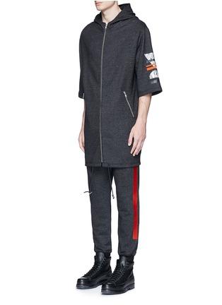 正面 -点击放大 - MC Q - 几何胶印混棉派克大衣