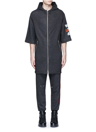 首图 - 点击放大 - MC Q - 几何胶印混棉派克大衣
