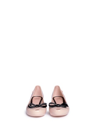 模特儿示范图 - 点击放大 - MELISSA - 儿童款蝴蝶结饰果冻鞋
